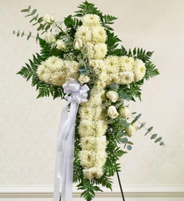 White Cross with White Rose Break