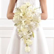 Basic Cascade Bridal Bouquet