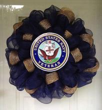 Silk Navy Wreath